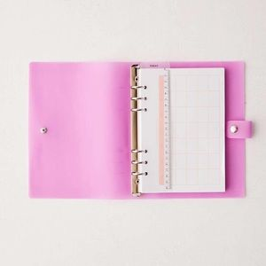 🐣 URBAN OUTFITTERS SNAP BINDER PLANNER PINK